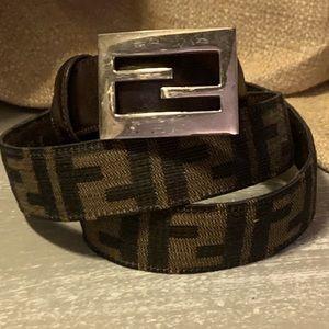 Vintage Fendi Zucca Belt sz Sm/MED